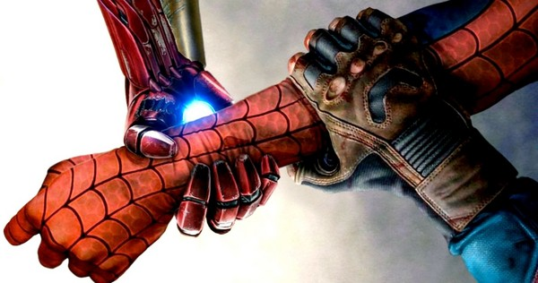 iron man dan captain america di spider-man