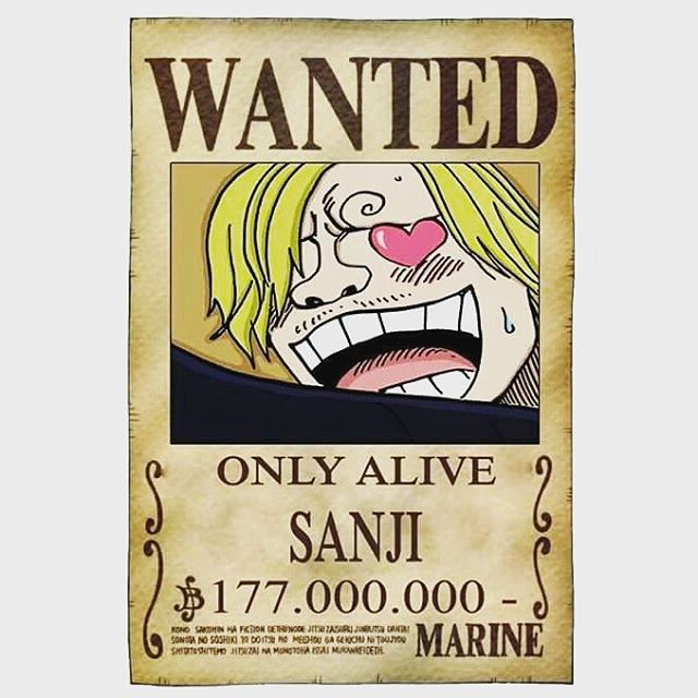 Poster Buronan Sanji One Piece