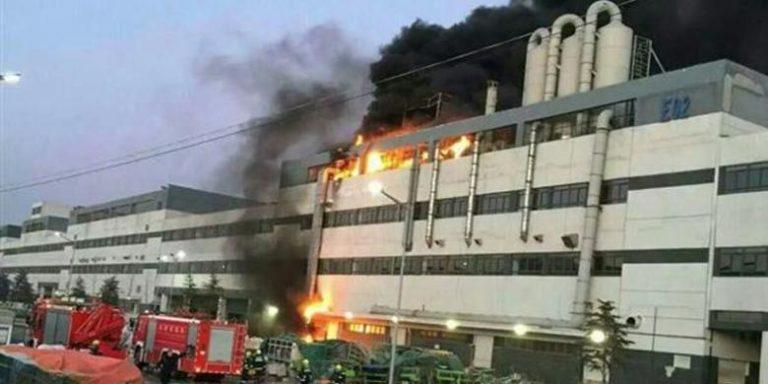 Pabrik iPhone di China Milik Foxconn terbakar, Minggu 24 Januari 2016