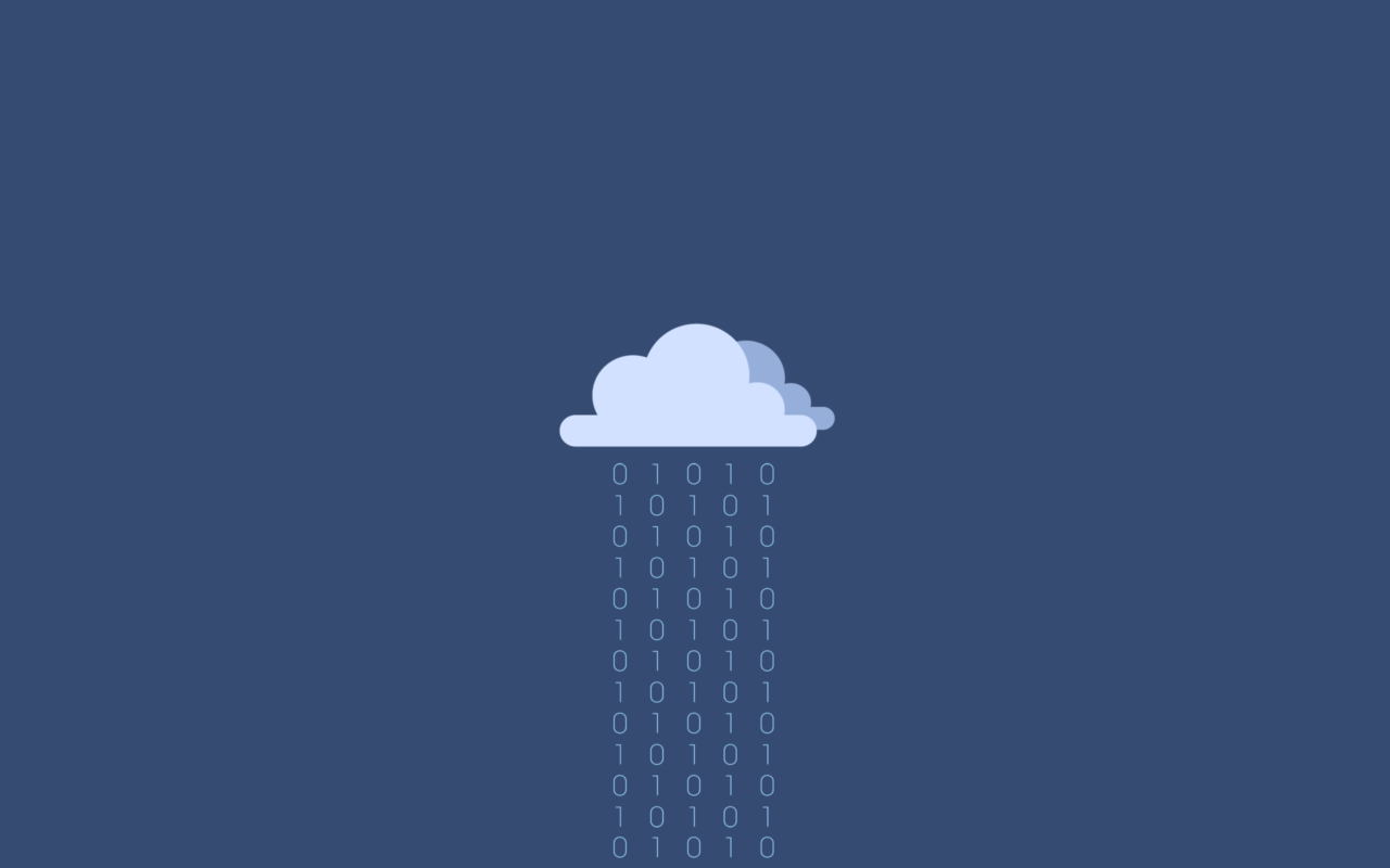 Flat Wallpaper Binary Cloud