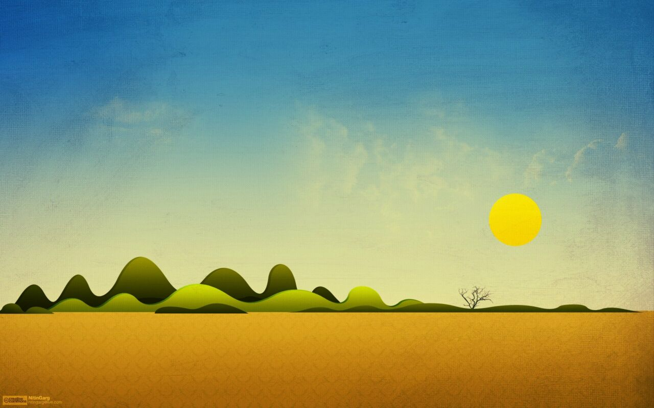 Flat Wallpaper Simple Desert