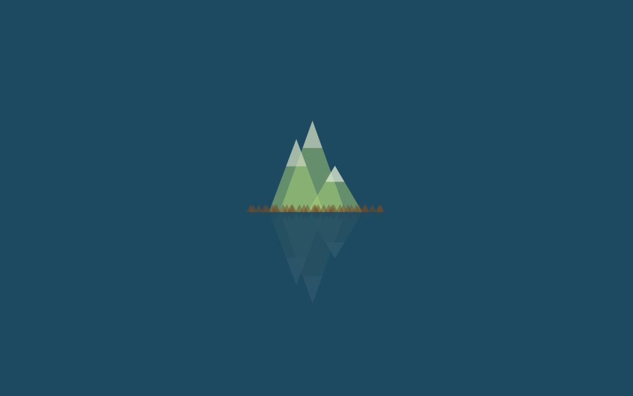 Flat Wallpaper Simple Mountain