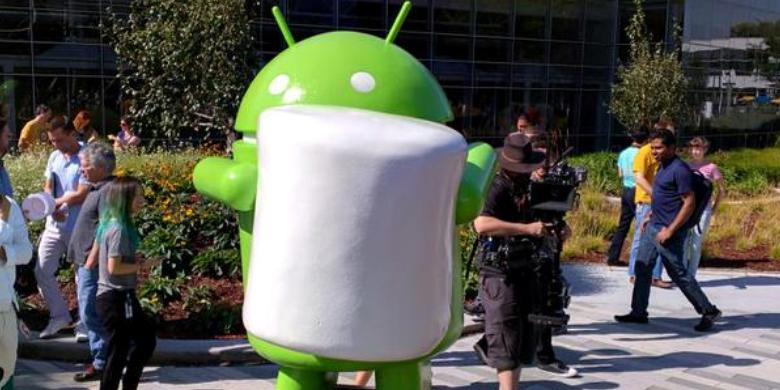 Patung Android Marshmallow di Kantor Google DAF