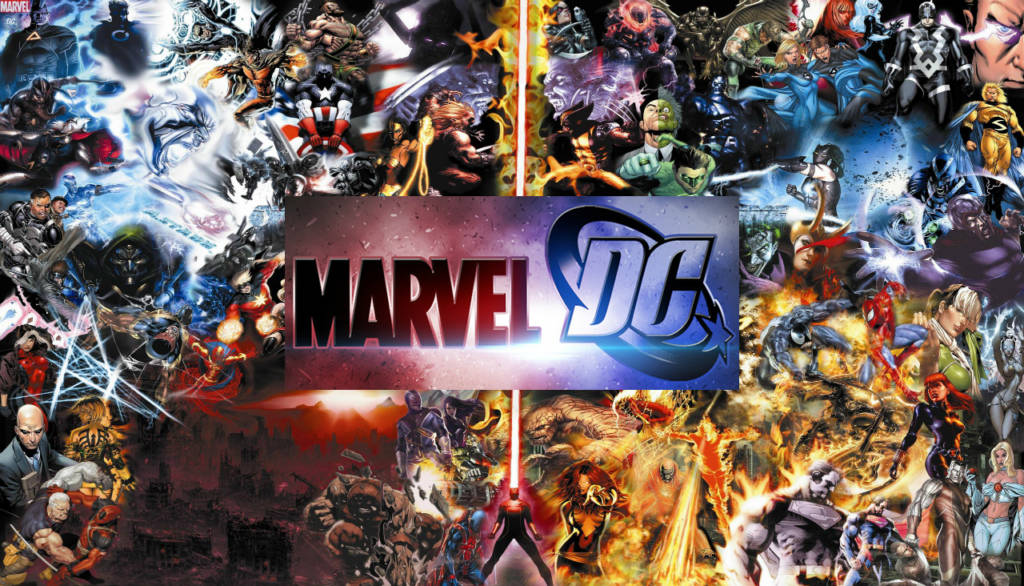 gabungan antara superhero marvel dan dc
