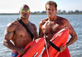 dwayne johnson syuting baywatch
