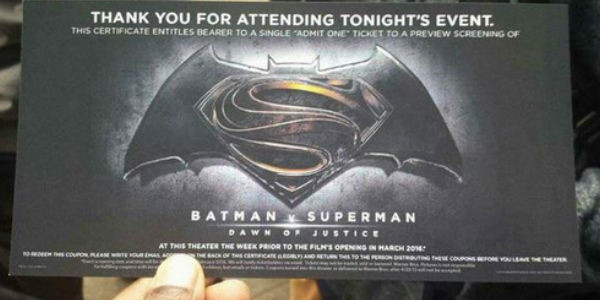 tiket batman v superman