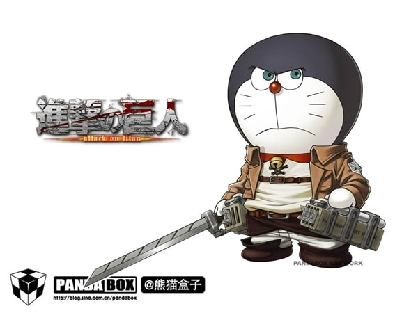 Attack on titan Doraemon Superhero