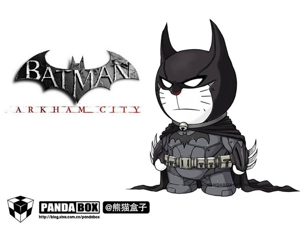 Batman Doraemon Superhero