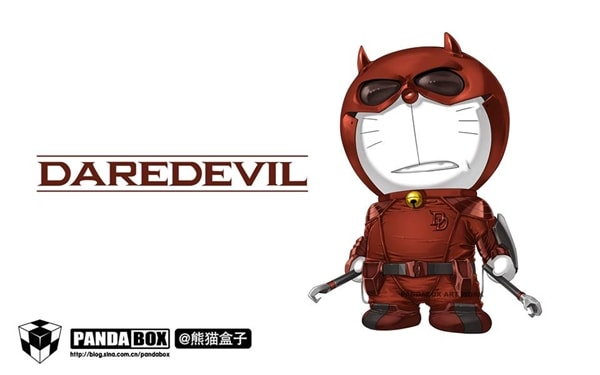 Daredevil Doraemon Superhero