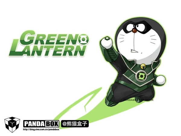 Green Lantern Doraemon Superhero
