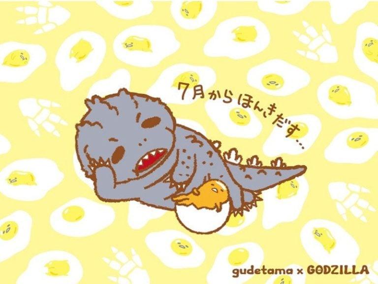 Gudetama x Godzilla Menjadi malas (3)