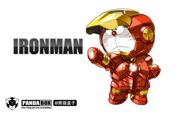 Iron man Doraemon Superhero