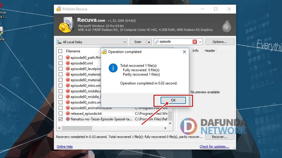 Mengembalikan File Terhapus di Komputer (2)