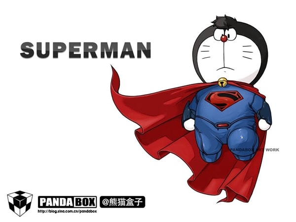 Superman Doraemon Superhero