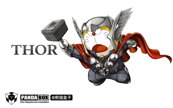 Thor Doraemon Superhero
