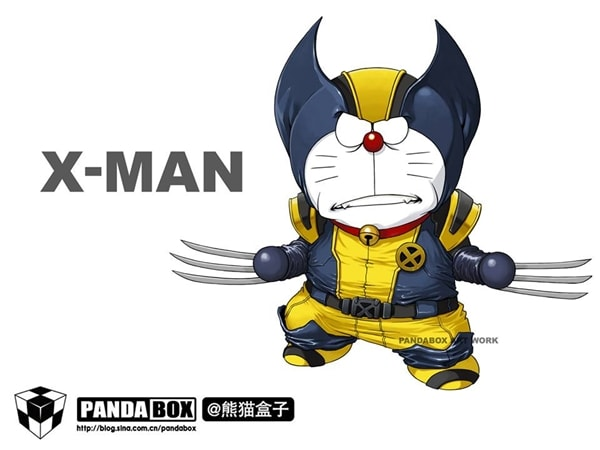 X-man Doraemon Superhero