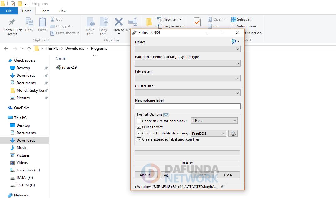 cara bootable di flash disk