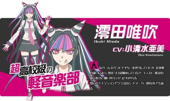 Ibuki Mioda Karakter danganronpa 3