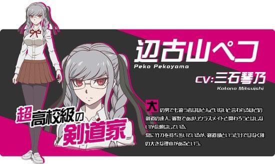 Peko Pekoyama Karakter danganronpa 3