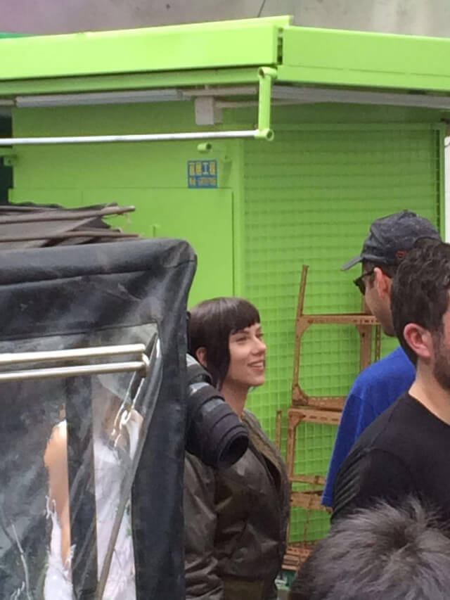Scarlett Johansson Ghost in the Shell live action Shooting hongkong