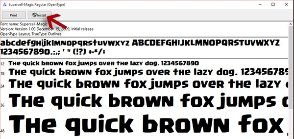 how to make coc font