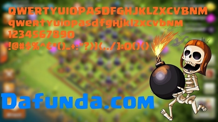 font clash of clans