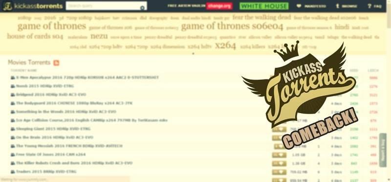 kickass torrent hadir kembali
