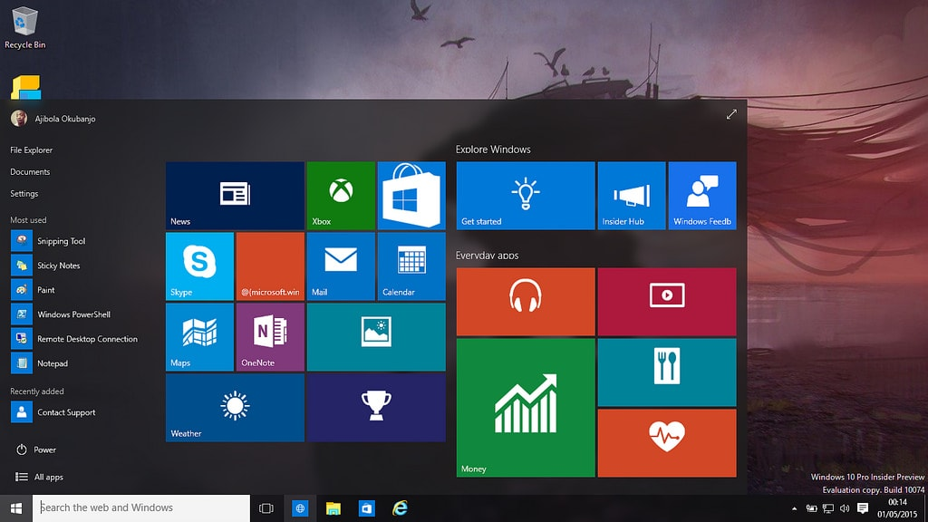 Windows 10 versi update