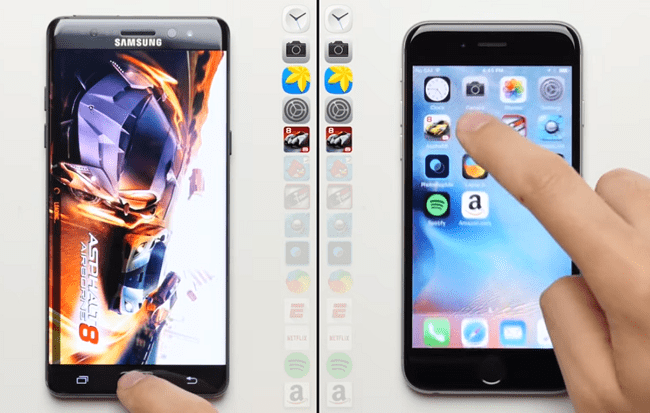 iPhone 6s VS Galaxy Note 7