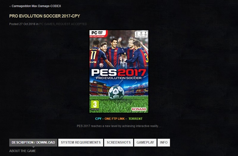 PES 2017 Crack by CPY