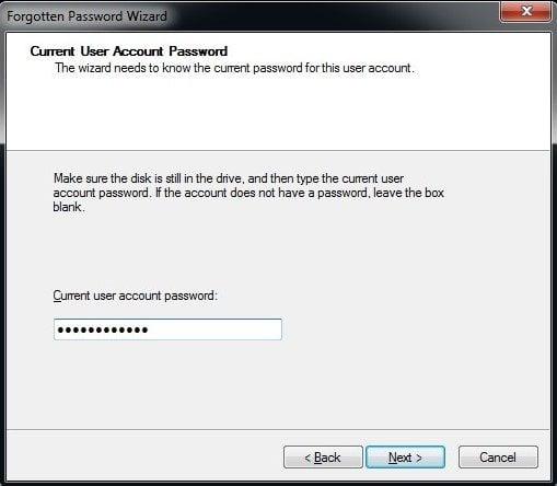 cara buat password reset di windows 7