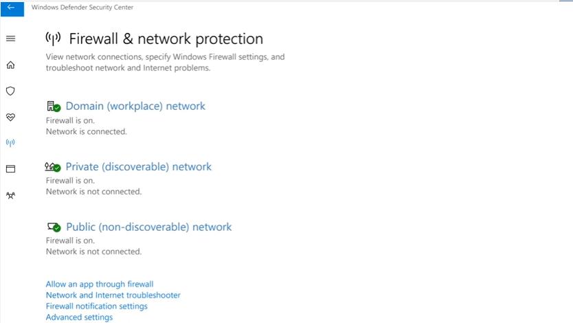Device performance & health di Windows Defender