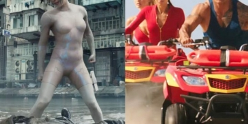 super bowl ghost in the shell baywatch