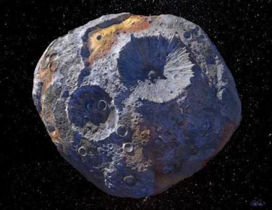Gambar Asteroid 16 Psyche