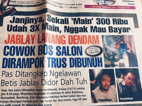 judul koran lampu hijau tentang asmara berujung bencana 03