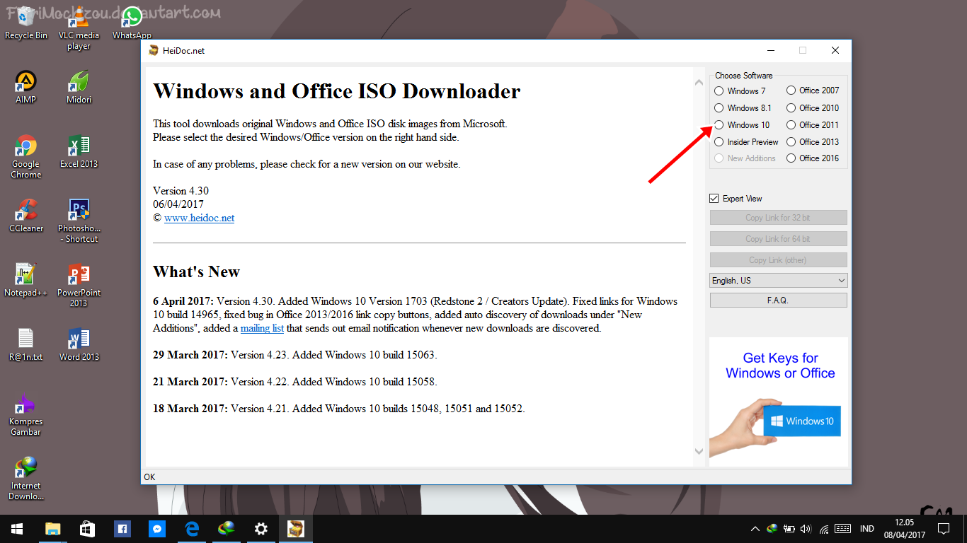 Download Windows 10 Creator Update ISO 2 - Cara Download File ISO Windows 10 Creators Update Langsung Dari Server Microsoft | Dafunda Tekno