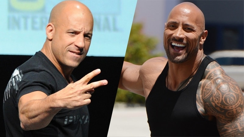 Vin Diesel Dwayne Johnson Fate of the furious