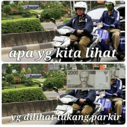 meme tukang parkir 5