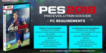 Spesifikasi PC PES 2018