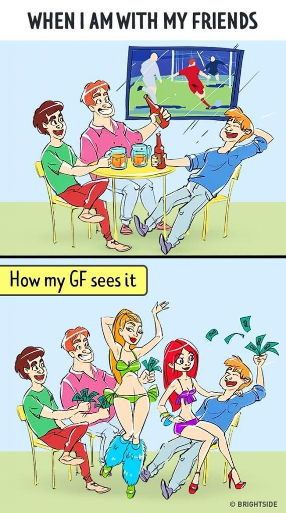 ilustrasi pandangan lelaki dan pasangan 1