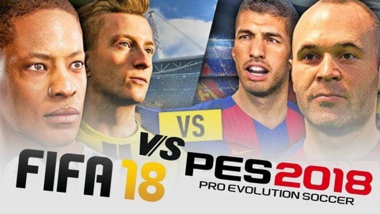 PES 2018 vs FIFA 18