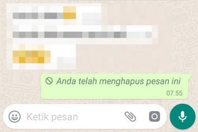 Cara Membatalkan Pesan Terkirim Di Whatsapp 3