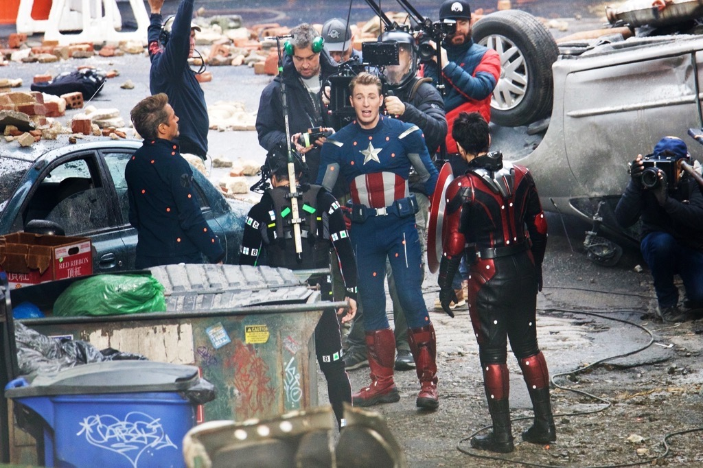 *EXCLUSIVE* Chris Evans Sports His Old Captain America Costume On The Set Of 'Avengers 4'