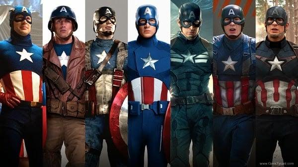 captain america dari dulu hingga sekarang