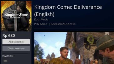Harga Kingdom Come Deliverance Murah Di Ps4