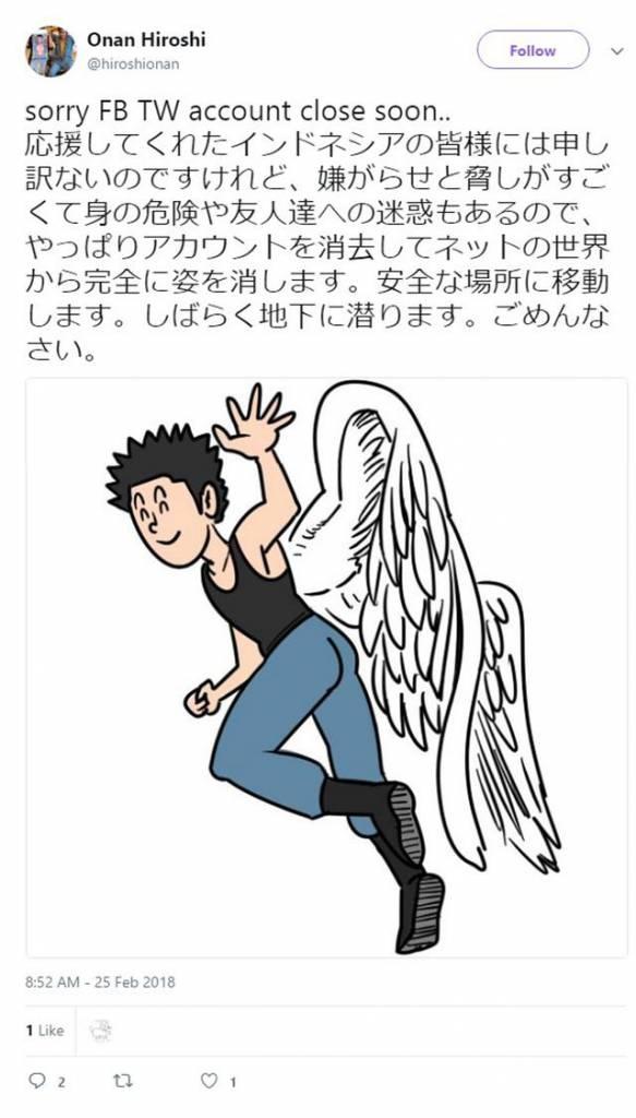 Komikus Onan Hiroshi, Melakukan Aksi Harakiri! Dafunda Otaku