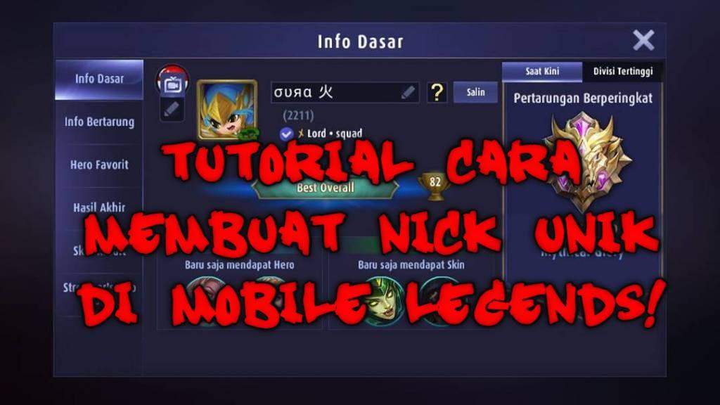 Tutorial Cara Membuat Nickname Yang Sangat Unik Di Mobile Legends! Dafunda Com