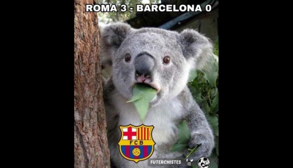 Meme Barca Vs Roma 10