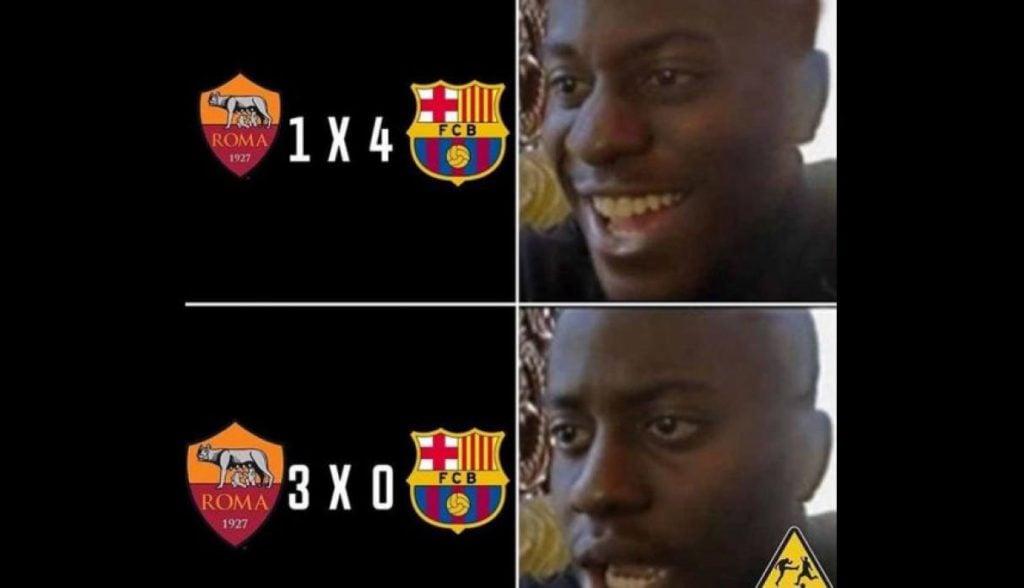 Meme Barca Vs Roma 7