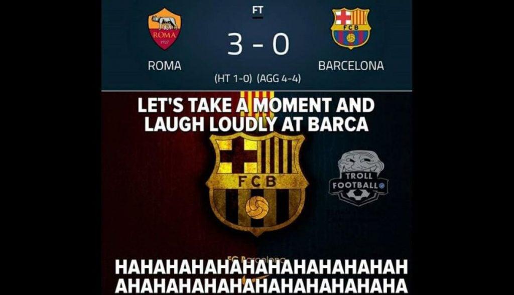 Meme Barca Vs Roma 9